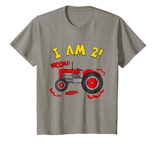 Amazon Kids 2nd Birthday Tractor T Shirt Kids 2 Year Birthday