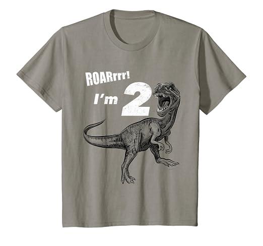 Amazon Kids 2nd Birthday Dinosaur Gift T Shirt For 2 Year