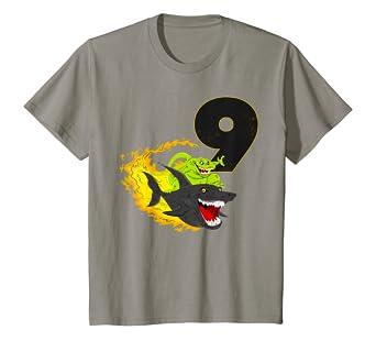 Amazon Kids Birthday Boy Shirt Dinosaur Riding A Shark T