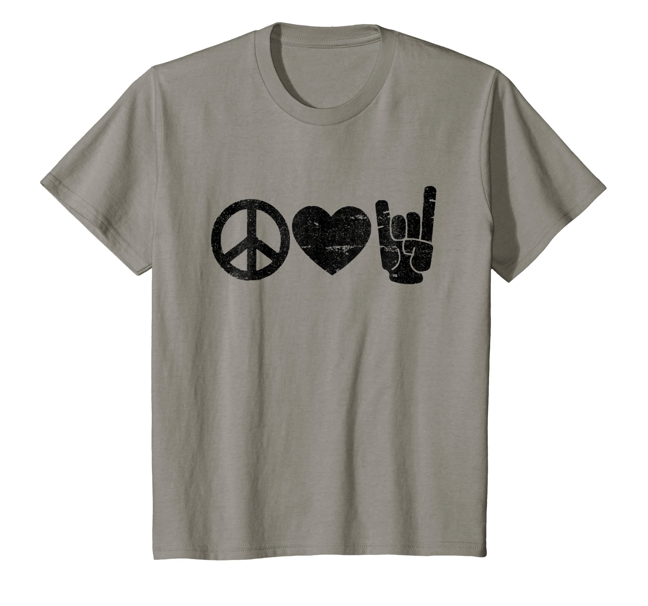 Amazon Peace Love Rock And Roll T Shirt Rock And Roll Shirts