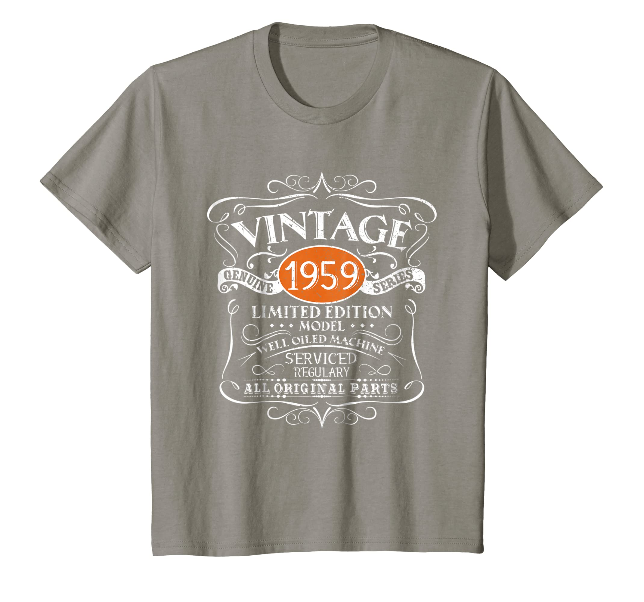 Amazon Vintage 1959 60th Birthday All Original Parts Gift T Shirt Clothing
