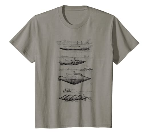 3b85c425 Amazon.com: Kids Submarine T-Shirt. Boys Submarine Sea Navy Tee ...
