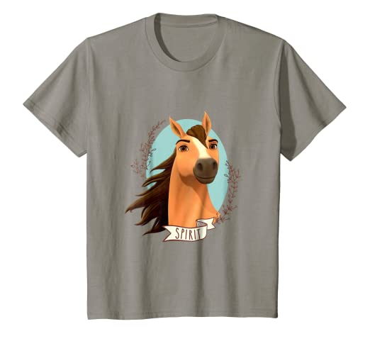 d7913c4f Amazon.com: Kids DreamWorks Spirit Riding Free - Spirit T-Shirt ...