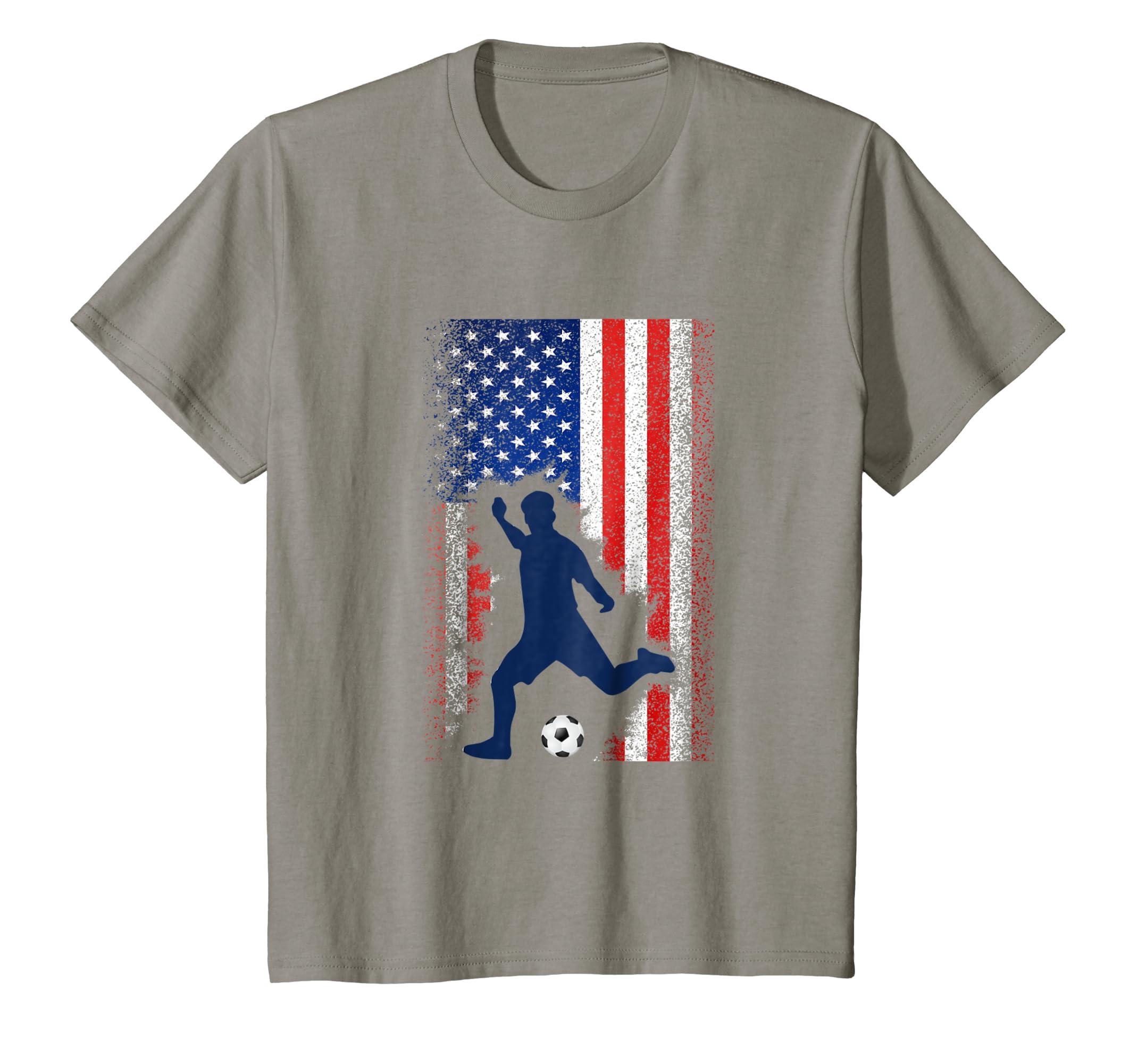 Amazon.com  American Flag Soccer Shirt USA Cool Football Jersey Gift Tee   Clothing a49bcfeb4
