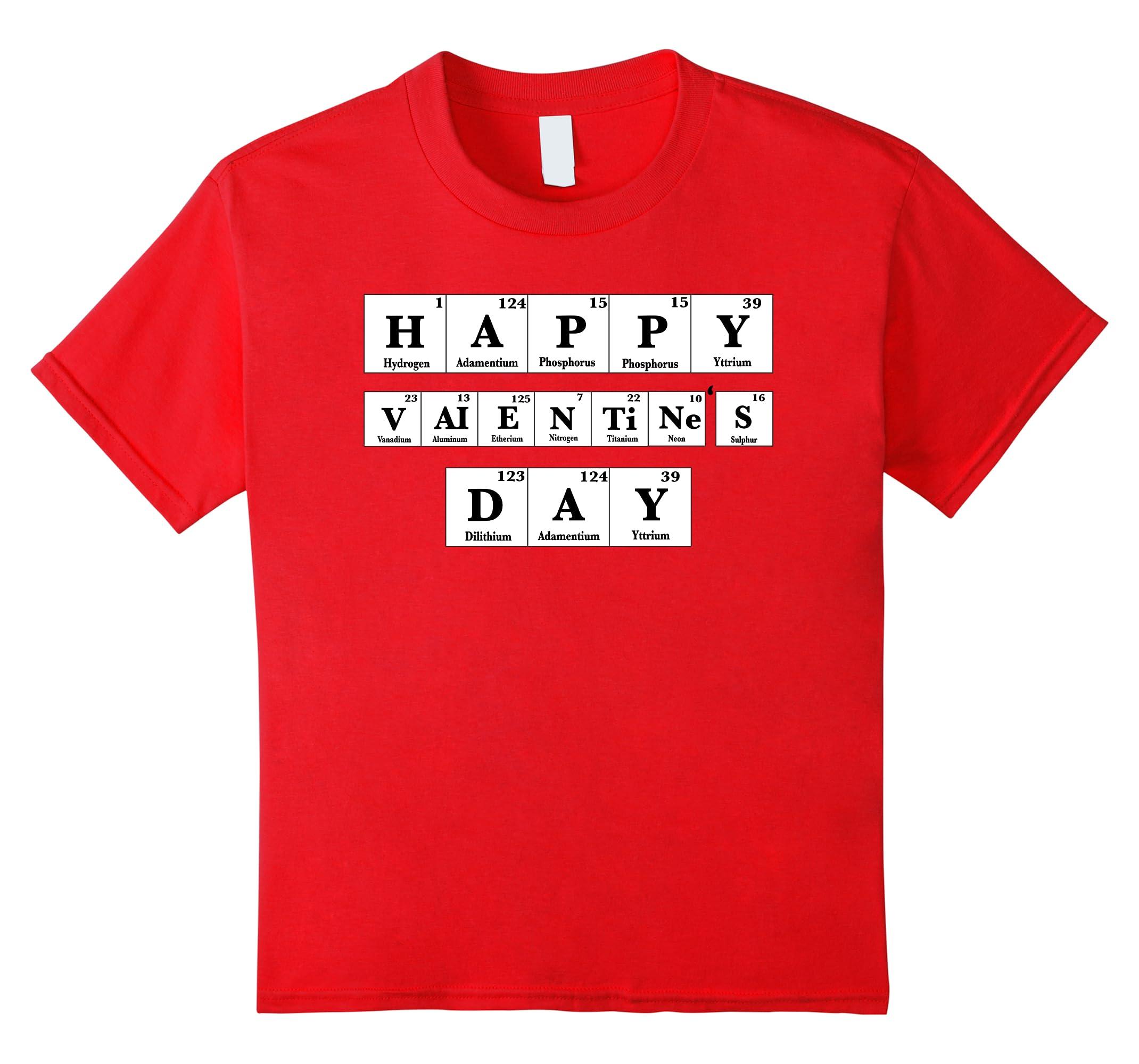 Funny Valentines Day Periodic Science-Teechatpro