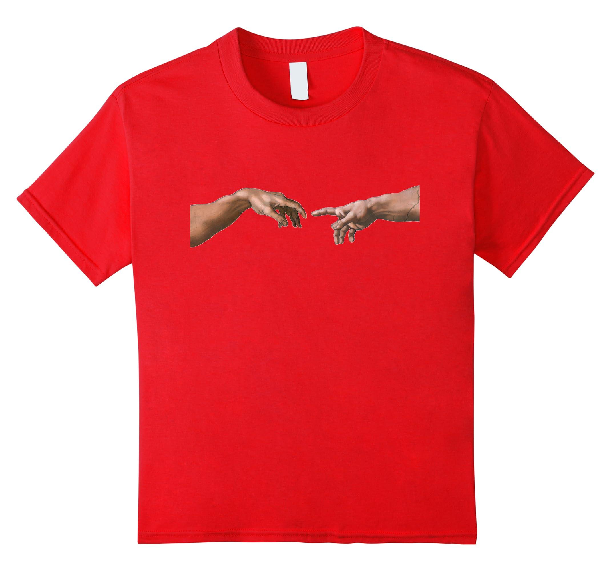 Creation Adam Michelangelo T Shirt-Samdetee
