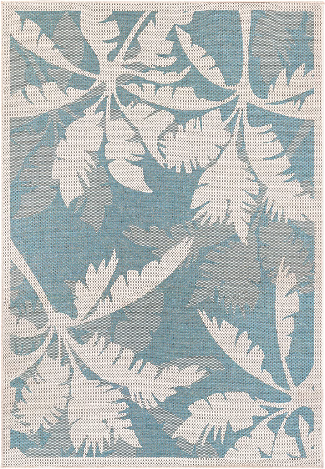Couristan Monaco Coastal Floral Runner Rug, 2'3  x 11'9 , Ivory Turquoise