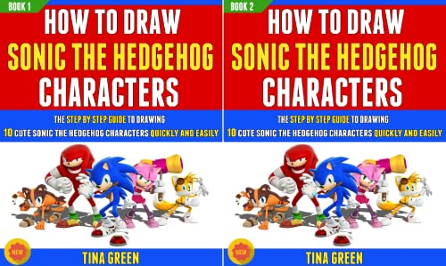 How To Draw Sonic The Hedgehog Characters (2 Book Series)