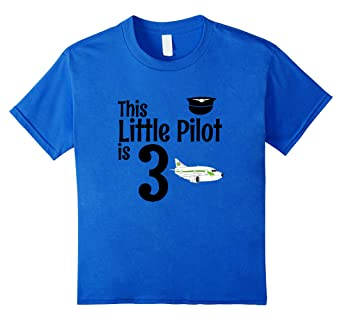 Kids 3 Year Old Airplane Birthday Party Pilot 3rd Shirt
