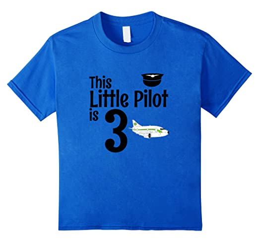 Image Unavailable Not Available For Color Kids 3 Year Old Airplane Birthday Party Pilot 3rd Shirt