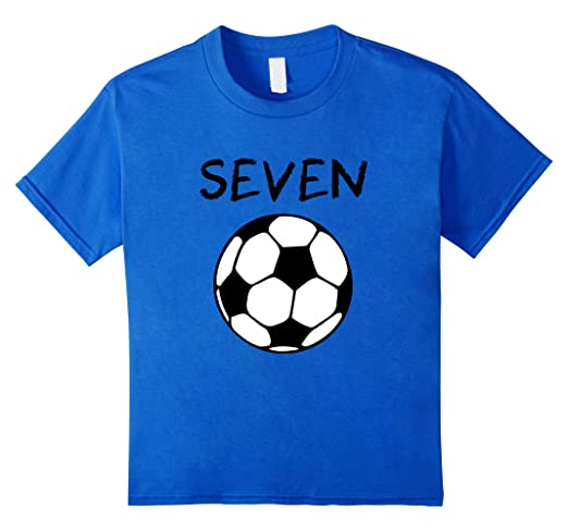 4c30d68be1d Amazon.com: Kids 7 Year Old Soccer Birthday Party 7th Birthday T ...