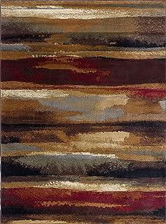 Dakota Contemporary Abstract Multi-Color Rectangle Area Rug, 5' x 7'