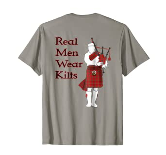 2b35ed31 Amazon.com: Real Men Wear Kilts Funny Scottish T-Shirt: Clothing
