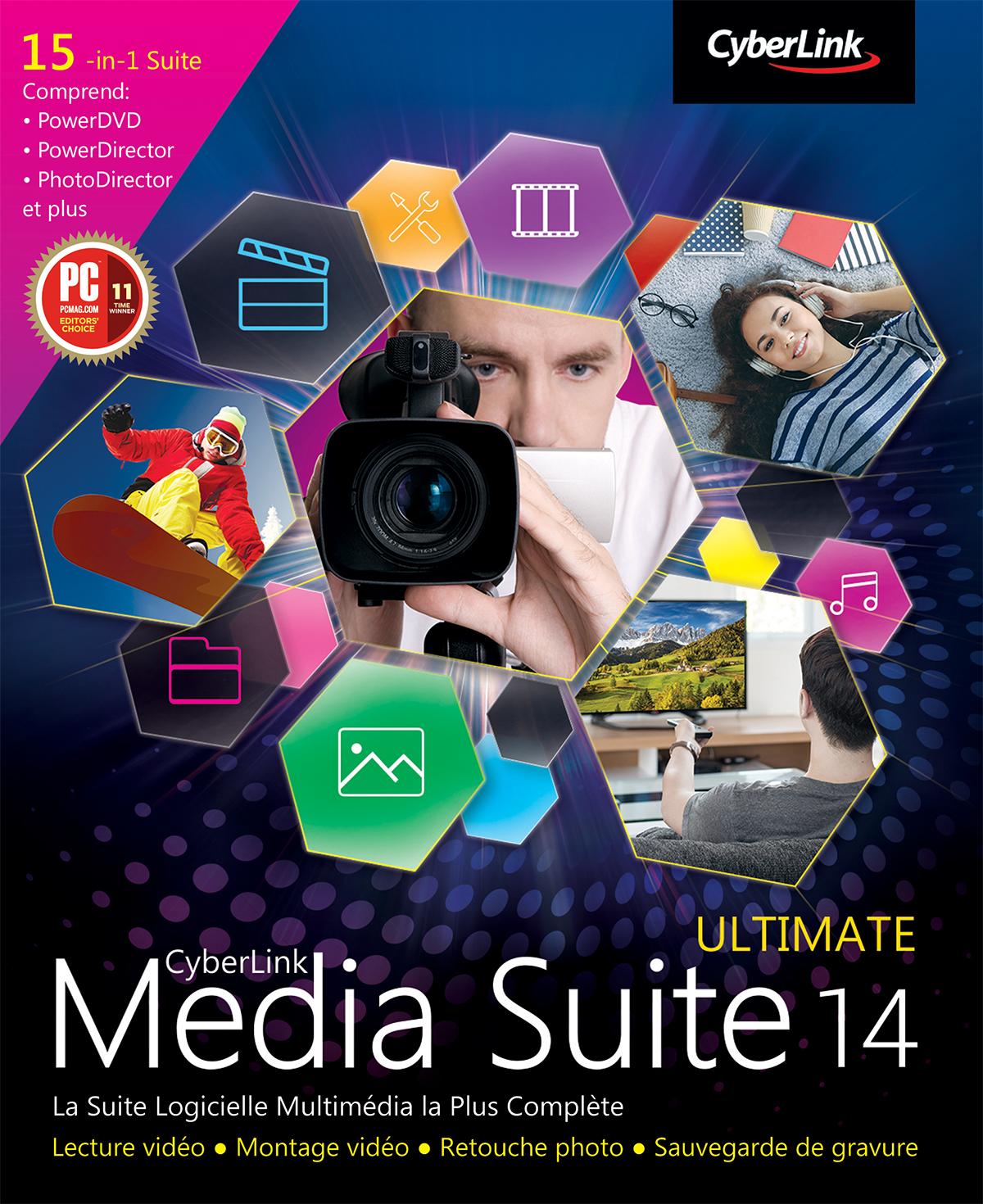 CyberLink Media Suite 14 Ultimate [Téléchargement]