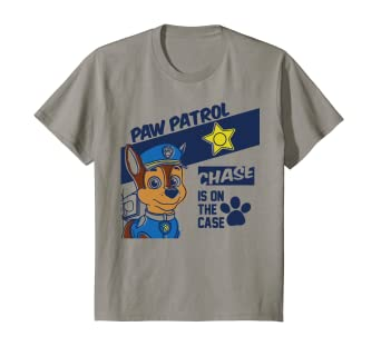 099d51c6 Image Unavailable. Image not available for. Color: Kids PAW Patrol Chase Is  On The Case Badge T-Shirt