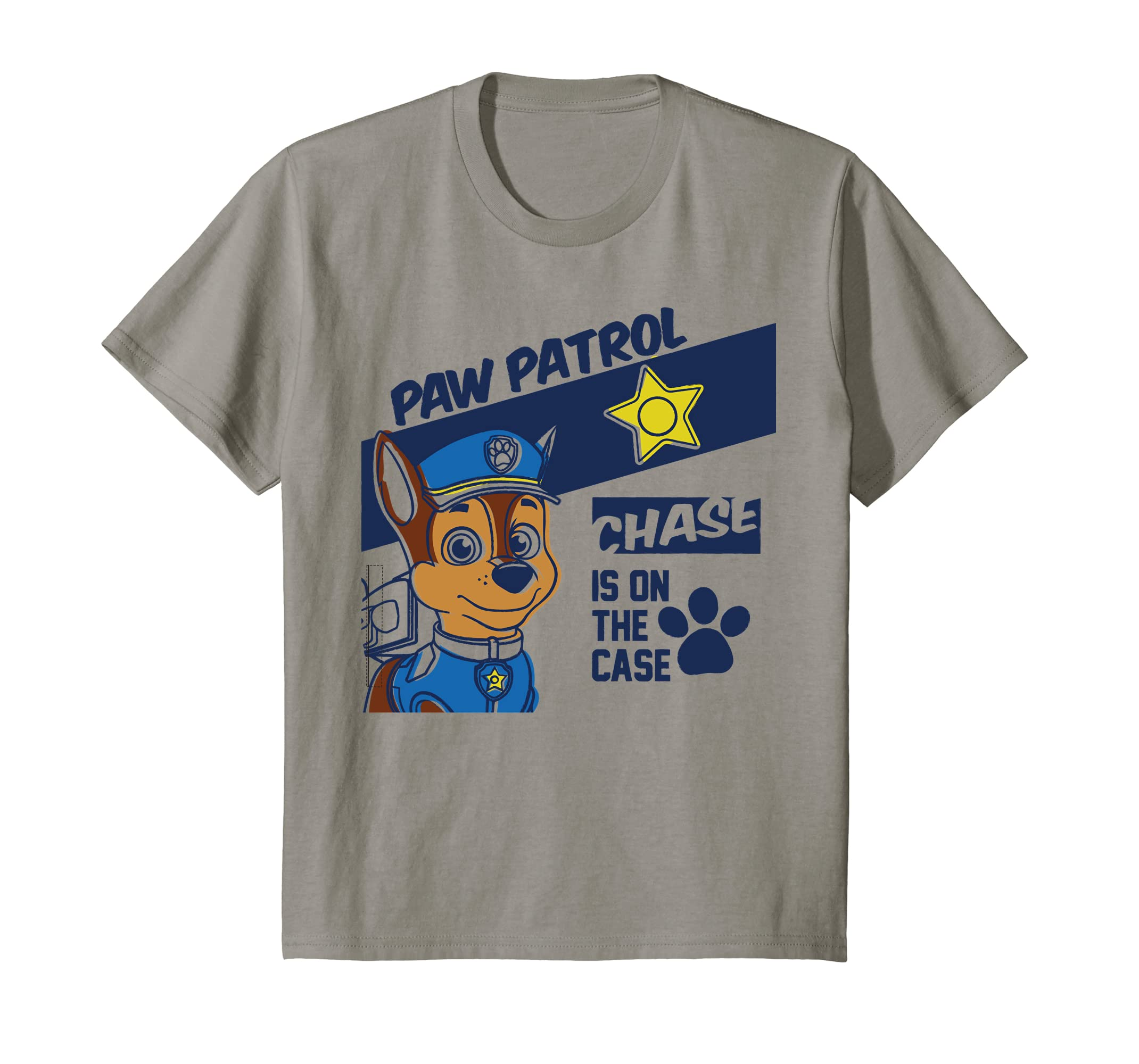 59451e19 Amazon.com: Kids PAW Patrol Chase Is On The Case Badge T-Shirt: Clothing