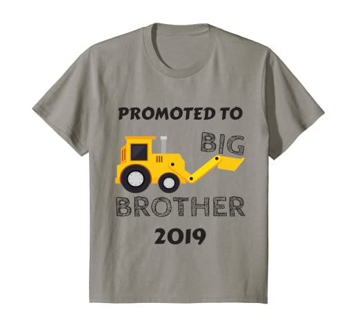 bf9008ba05d40 Amazon.com  Kids Kids Promoted To Big Brother 2019 Shirt Tractor ...