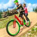 Kids BMX Bicycle Taxi Sim - Uphill Bicycle Racing