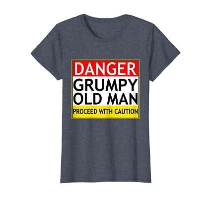 Caution Grumpy Old Man Funny Novelty Vest Singlet Top