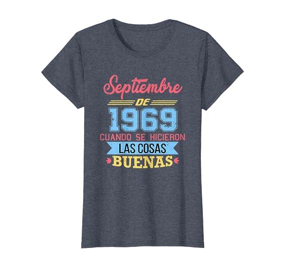 Amazon.com: Womens Camiseta 50 anos cumpleanos Septiembre ...