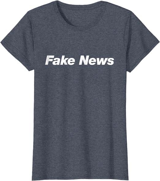 Boys Street Wear FAKE NEWS SHIRT Black Soft Tee Fake News Media Fair Wear Organic Organic Cotton Tee
