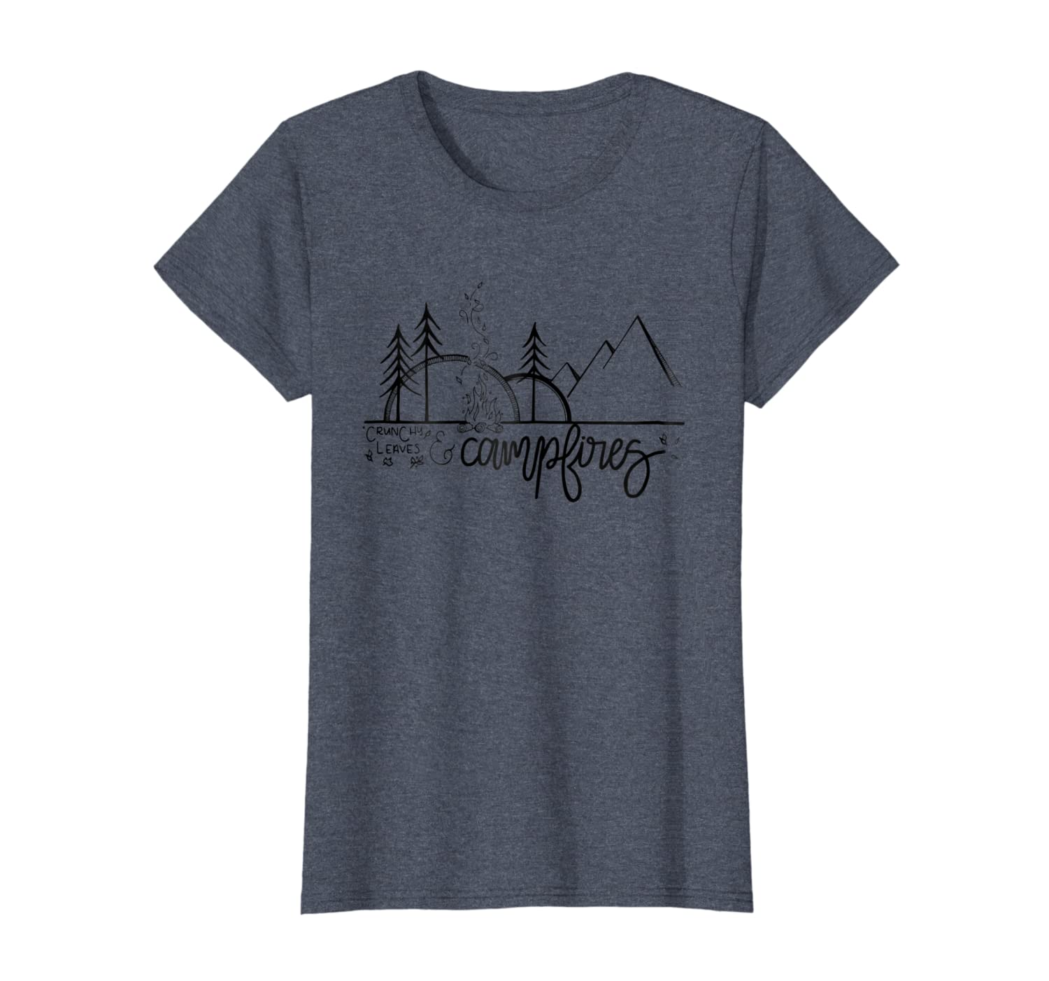 Crunchy Leaves /& Campfires An Outdoor Autumn Camping Shirt