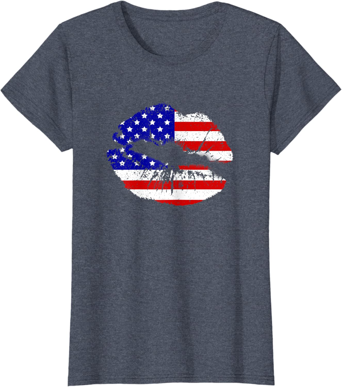 Women American lips  4th of july S,M,L,XL,XXL,XXXLpersonalized gift independence  tshirt for women graphic teesready to ship