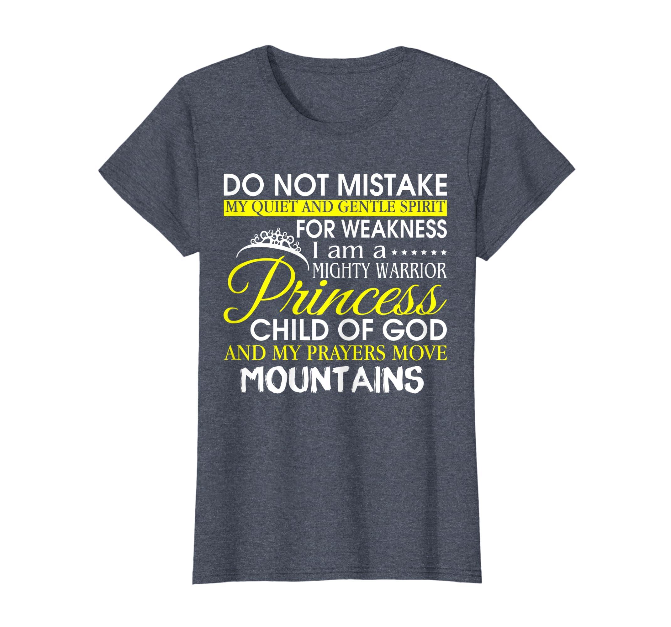 0105e80e Amazon.com: I Am A Mighty Warrior Princess Child Of God T Shirt: Clothing