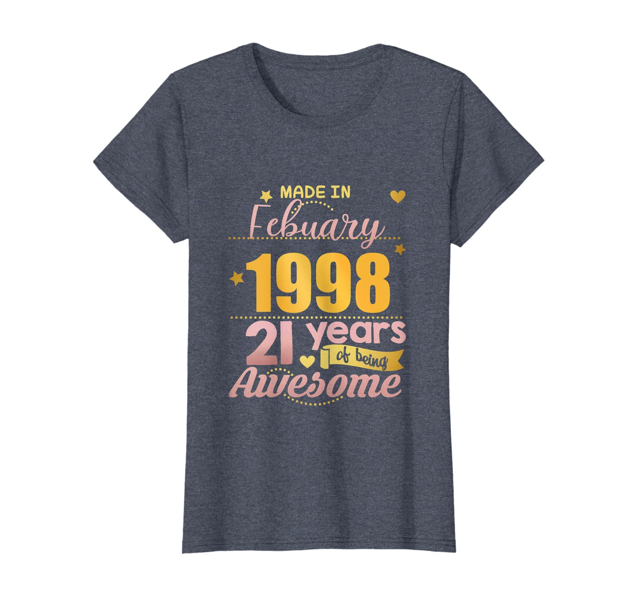 Amazon 21st Birthday Shirt Girls February Gift 21 Year Old Daughter Clothing