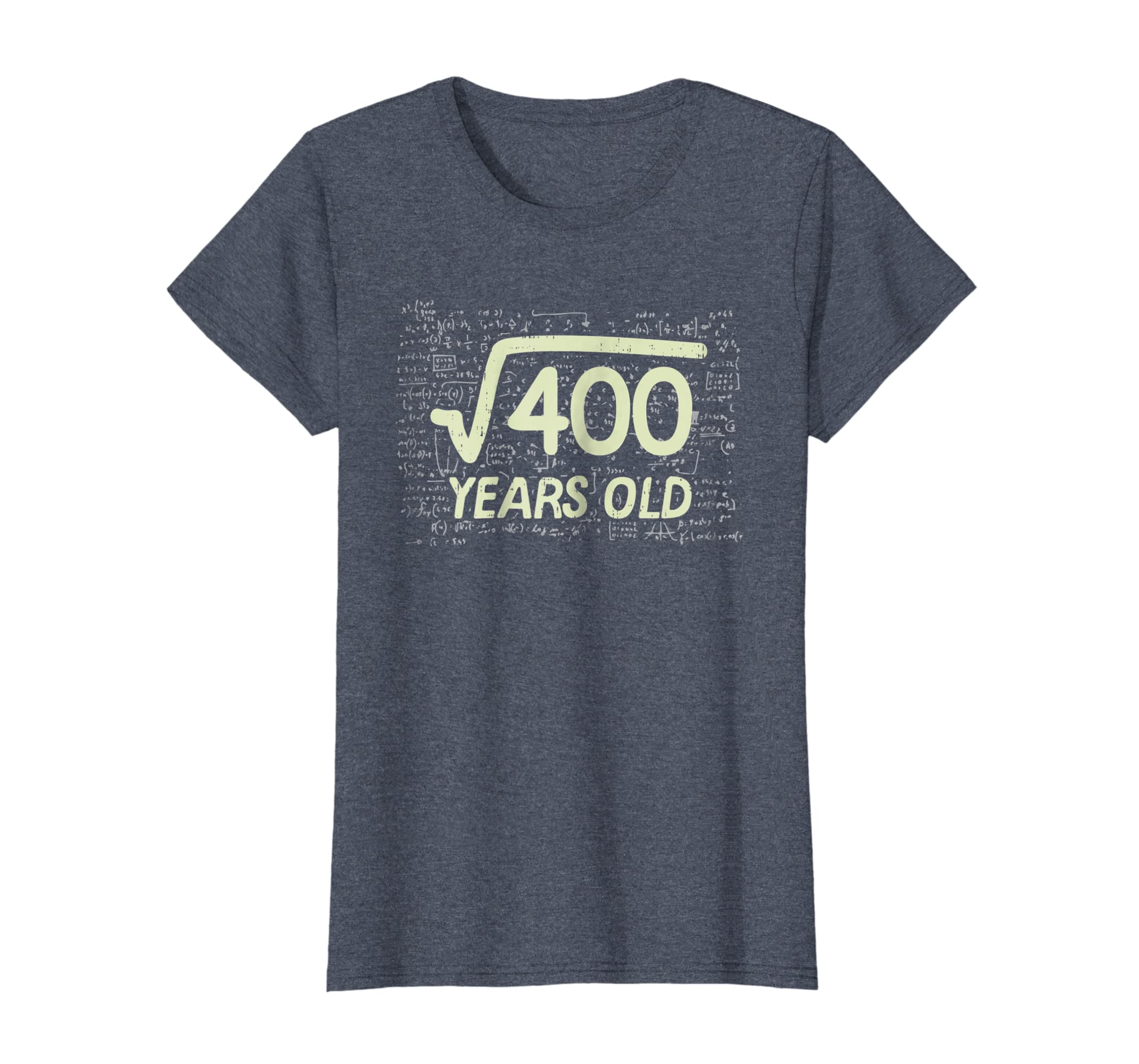 Amazon Square Root Of 400 Shirt Years Old 20th Birthday Gift Math Clothing