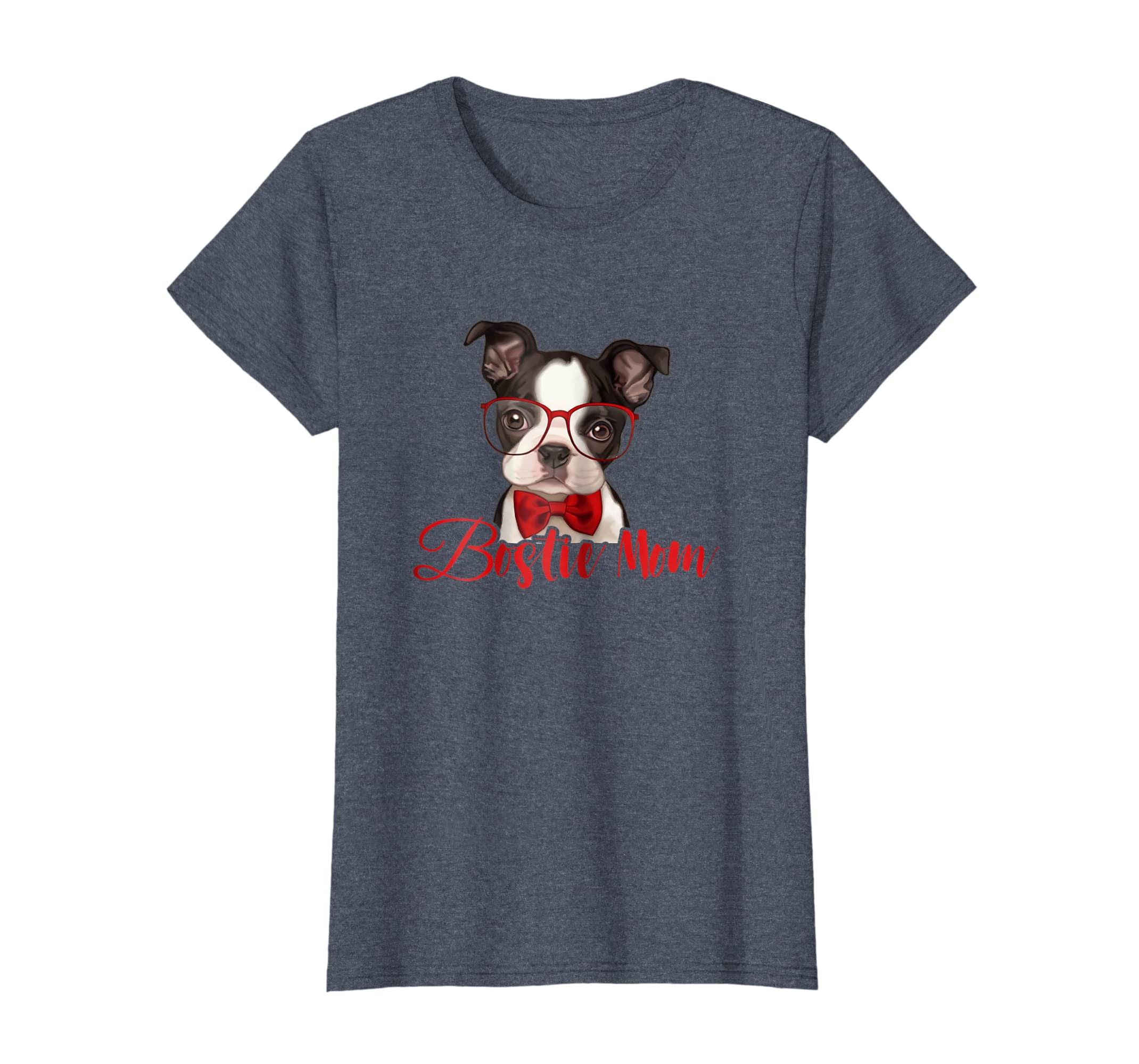 Womens Funny Bostie Mom Best Boston Dog Mom Mother Day Tee Shirt-Teehay