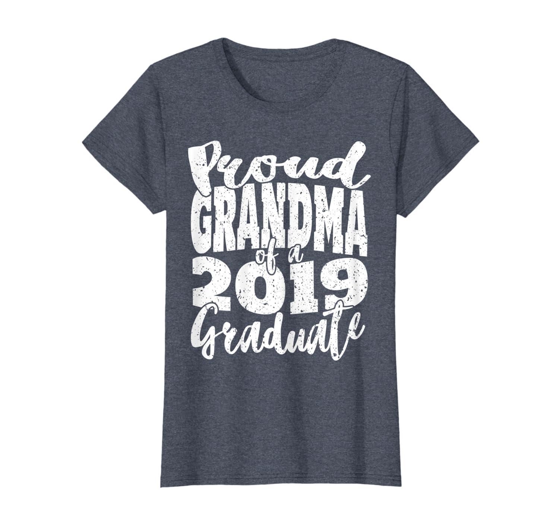 Womens Proud Grandma Of a 2019 Graduate T-Shirt Graduation Gift Tee-ANZ