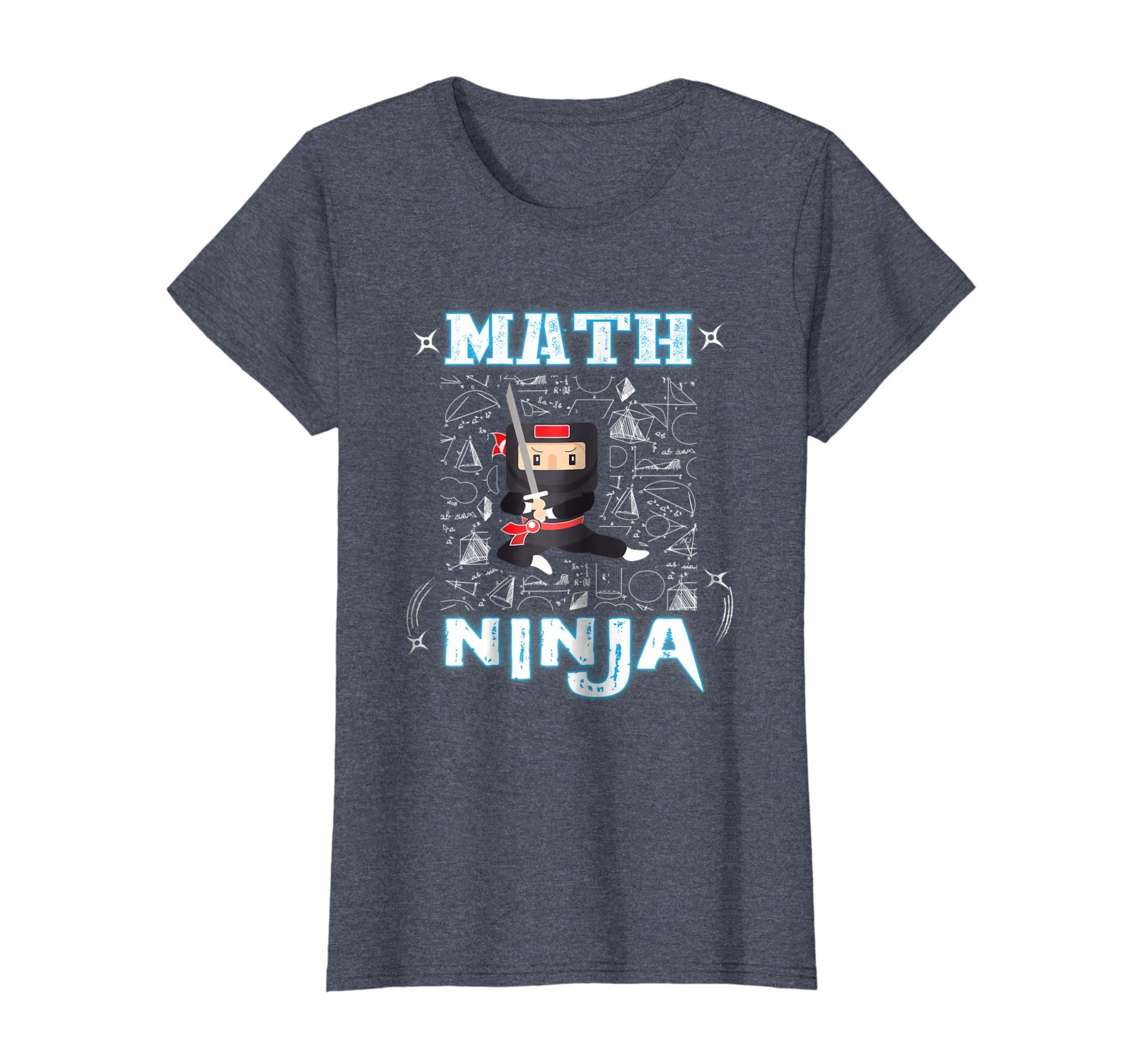 Amazon.com: Real Math Ninja - Cool Maths Tee for Kids ...