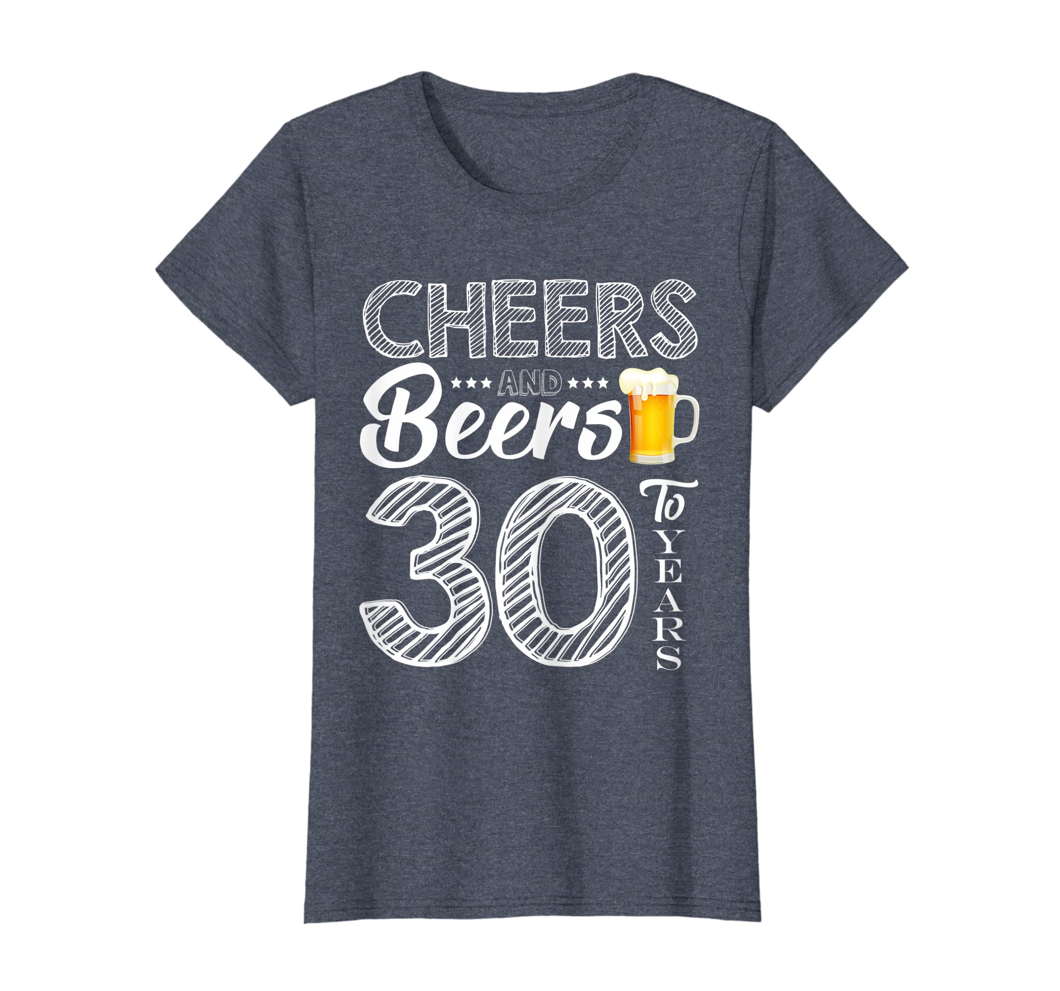 94bbfad7e714e Amazon.com: Funny 30th Birthday Gift Cheers and Beers to 30 Years ...