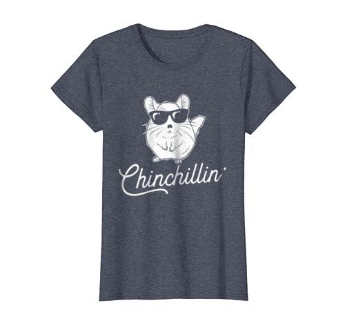 5e363a2c Amazon.com: Chinchillin' - Funny Chinchilla Lovers T-Shirt: Clothing