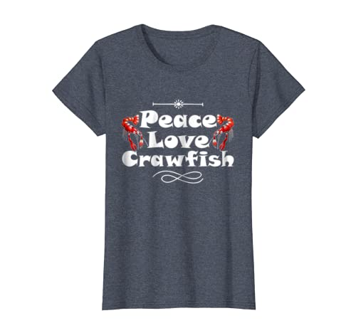 60f4a88c Amazon.com: Peace Love Crawfish Cajun Boil Funny Foodie T-Shirt: Clothing