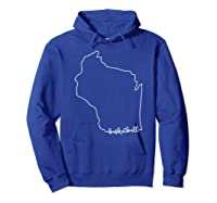 State Of Wisconsin Outline With Basketball Script Acj299b T-shirt Hoodie Royal Blue