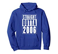 Straight Outta 2006 Cool Birthday Gift Shirts Hoodie Royal Blue