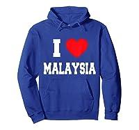 Love Malaysia Shirts Hoodie Royal Blue