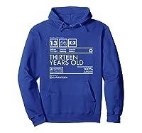 Handling Info Quaranteen Teenager 13 Birthday Gift T-shirt Hoodie Royal Blue