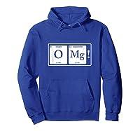 Omg T-shirt Hoodie Royal Blue