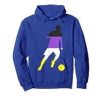 Nonbinary Flag Enby Soccer Football Sports Gay Pride Love Shirts Hoodie Royal Blue