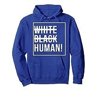 Black Human Shirts Hoodie Royal Blue
