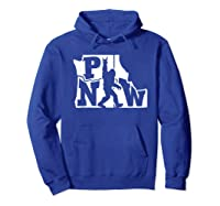 Rock And Roll Silhouette Pacific Northwest Sasquatch T-shirt Hoodie Royal Blue