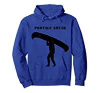 Urness Outdoors Canoeing Portage Ahead Shirts Hoodie Royal Blue