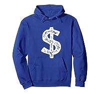 Dollar Sign Shirts Hoodie Royal Blue
