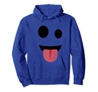 Funny Face Ghost Tongue Out Halloween Gift Shirts Hoodie Royal Blue