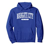 College Style Margate City New Souvenir Gift Shirts Hoodie Royal Blue