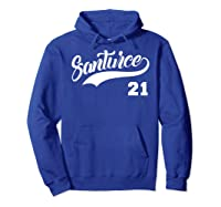 Santurce 21 Black Shirts Hoodie Royal Blue