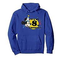 Mickey Mouse 8th Birthday Shirts Hoodie Royal Blue